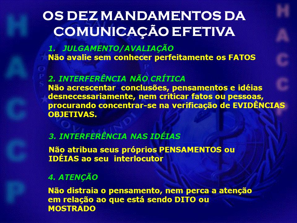 OS DEZ MANDAMENTOS DA COMUNICAÇÃO EFETIVA