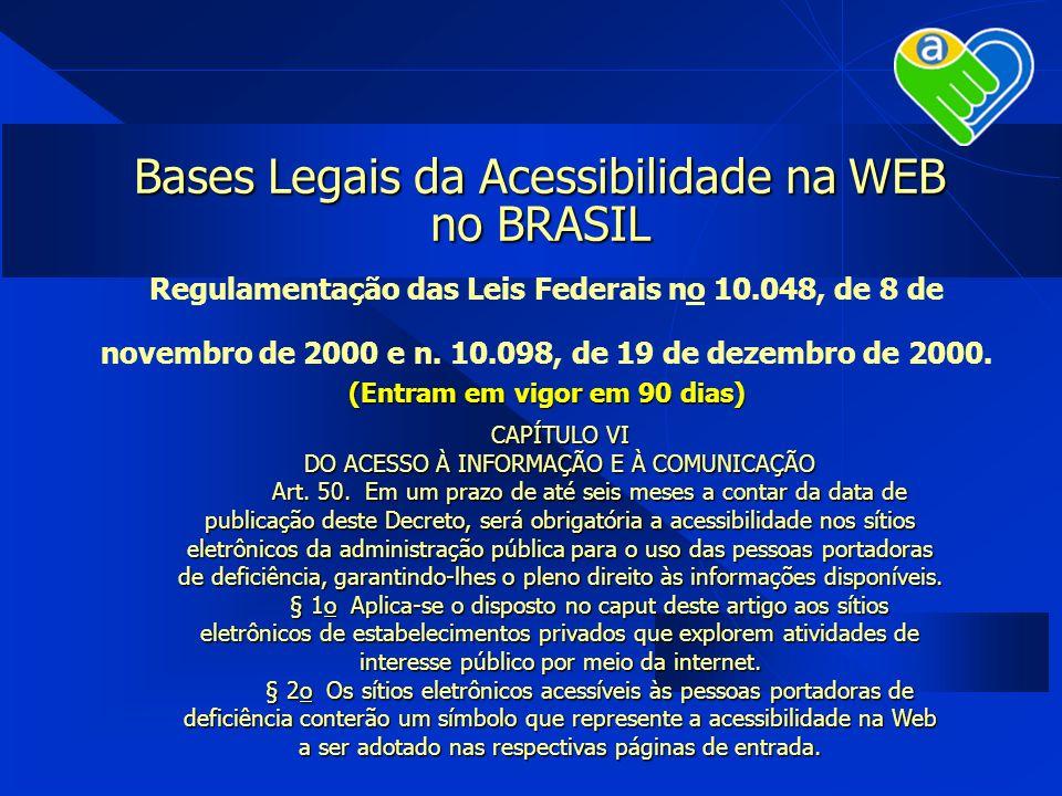 Bases Legais da Acessibilidade na WEB no BRASIL
