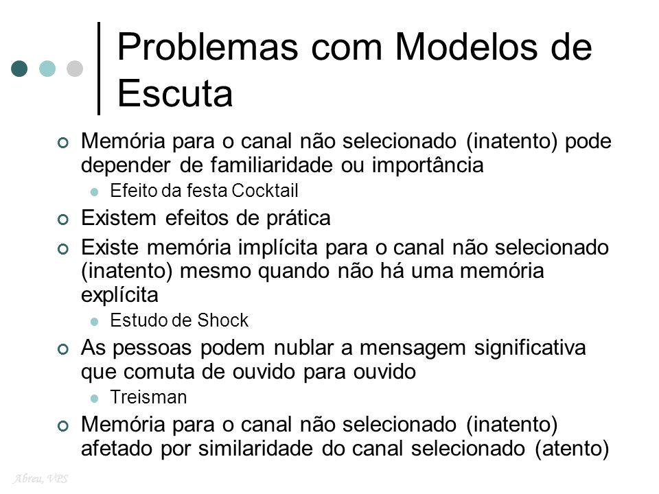 Problemas com Modelos de Escuta