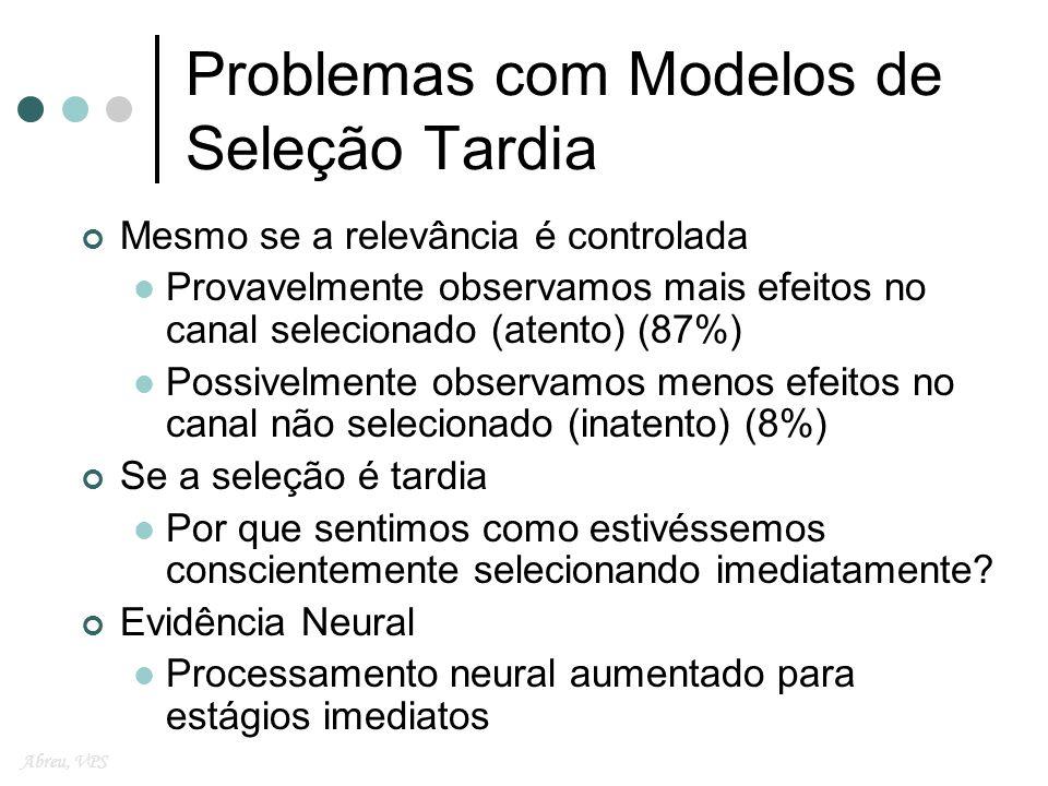 Problemas com Modelos de Seleção Tardia