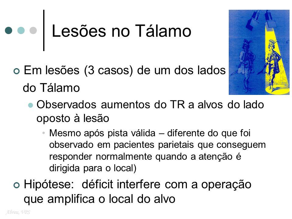 Lesões no Tálamo Em lesões (3 casos) de um dos lados do Tálamo