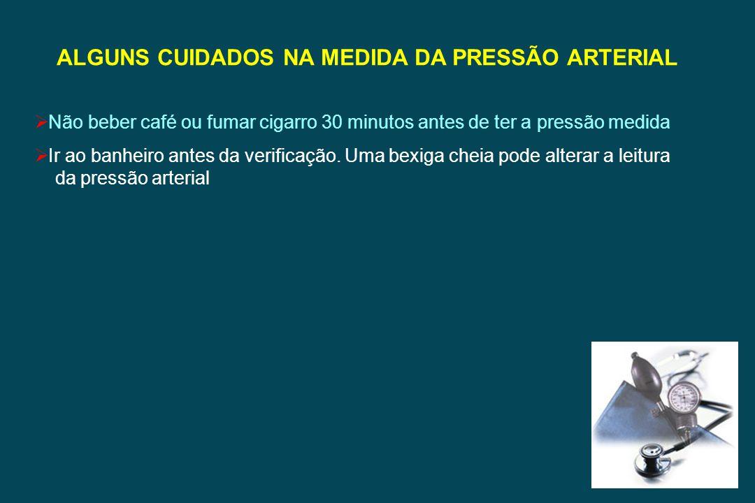 ALGUNS CUIDADOS NA MEDIDA DA PRESSÃO ARTERIAL