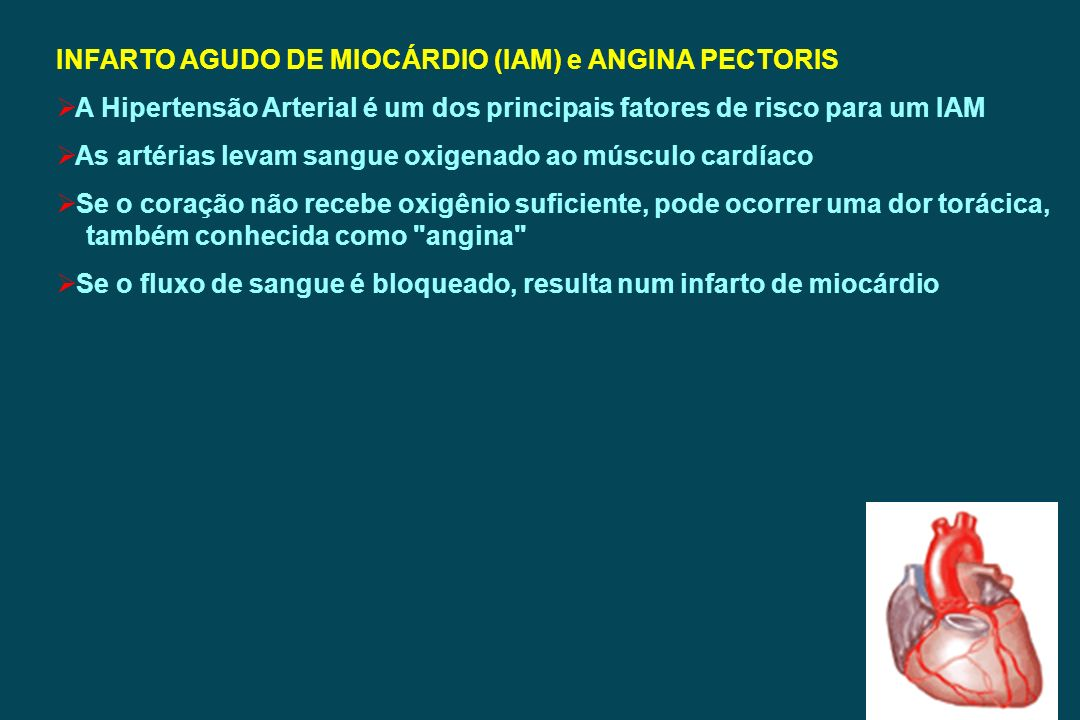 INFARTO AGUDO DE MIOCÁRDIO (IAM) e ANGINA PECTORIS