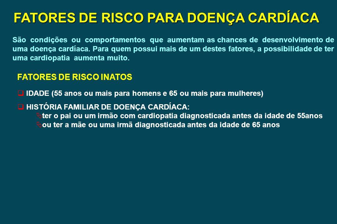 FATORES DE RISCO PARA DOENÇA CARDÍACA