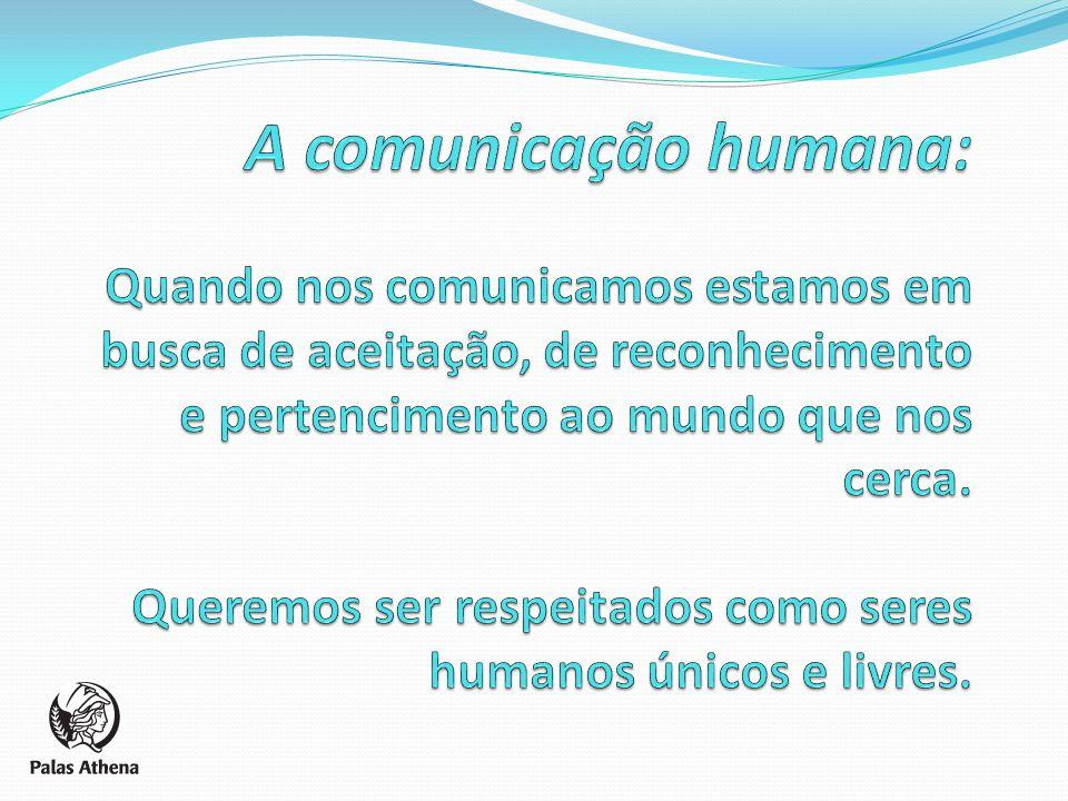 A comunicação humana: Quando nos comunicamos estamos em busca de aceitação, de reconhecimento e pertencimento ao mundo que nos cerca.