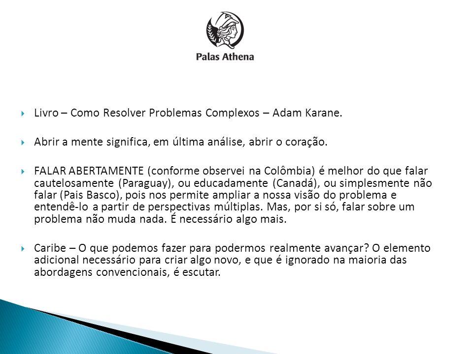 Livro – Como Resolver Problemas Complexos – Adam Karane.