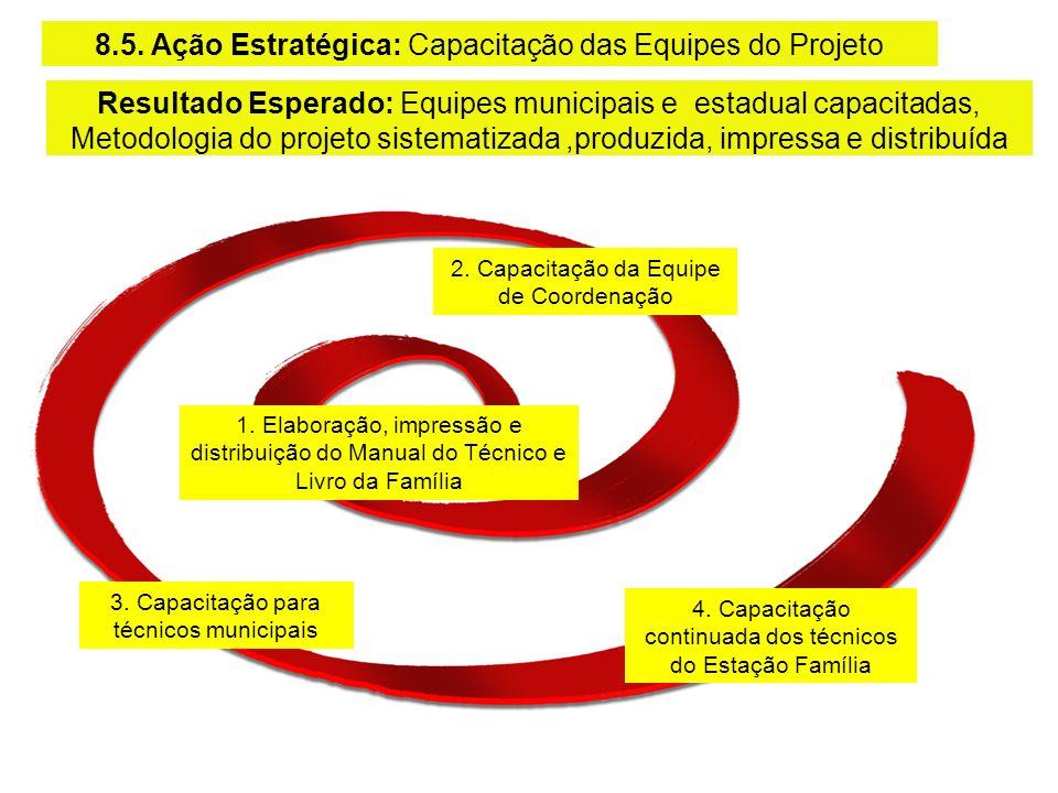 8.5. Ação Estratégica: Capacitação das Equipes do Projeto