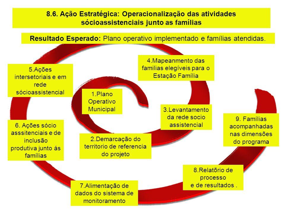 Resultado Esperado: Plano operativo implementado e famílias atendidas.