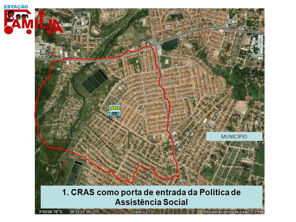 1. CRAS como porta de entrada da Política de Assistência Social