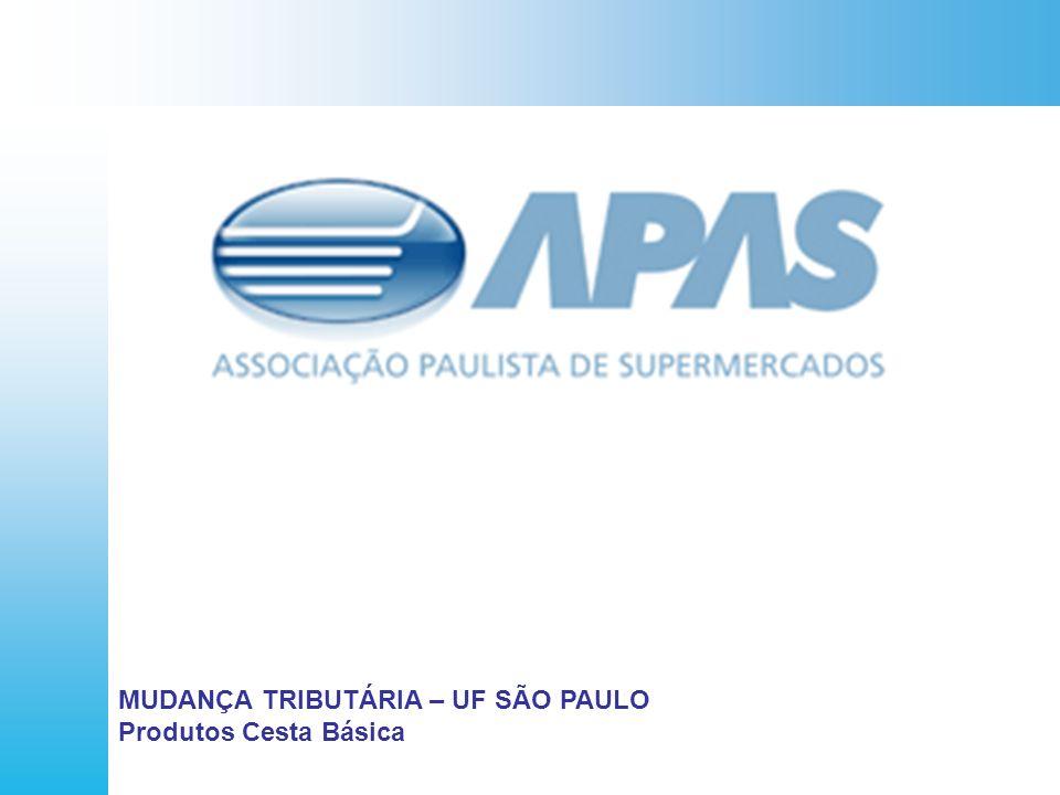 MUDANÇA TRIBUTÁRIA – UF SÃO PAULO