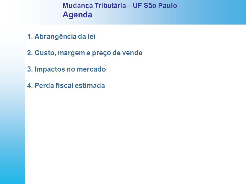 Agenda Mudança Tributária – UF São Paulo 1. Abrangência da lei