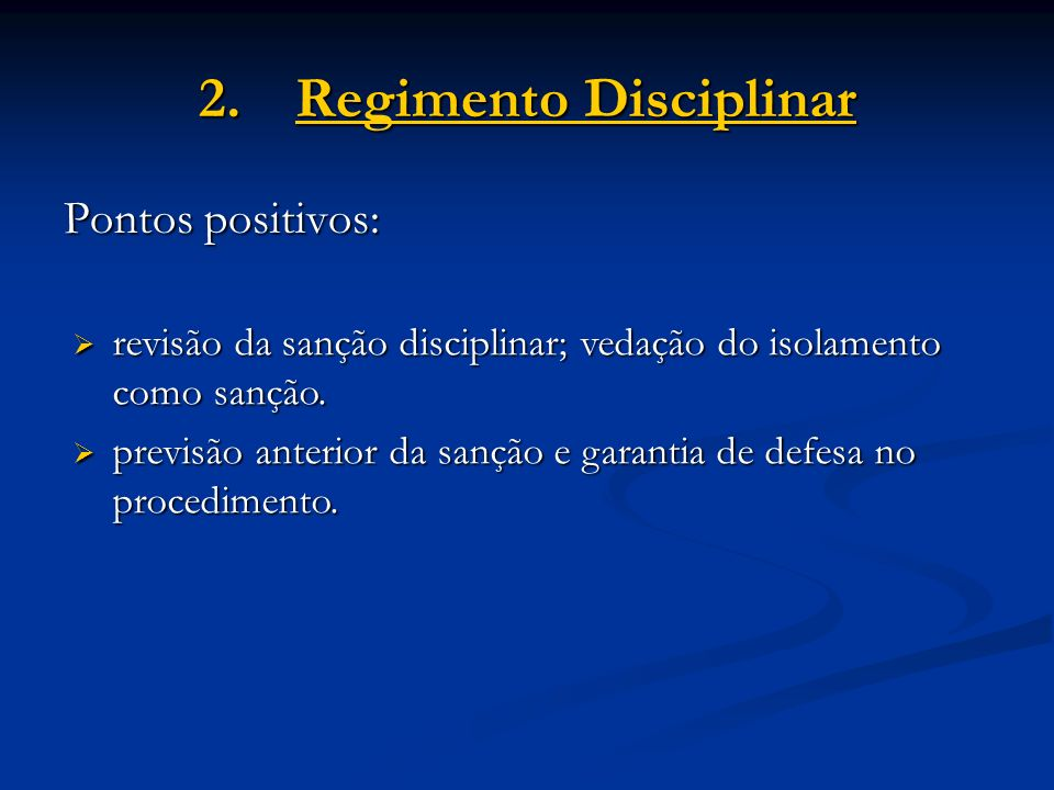 Regimento Disciplinar