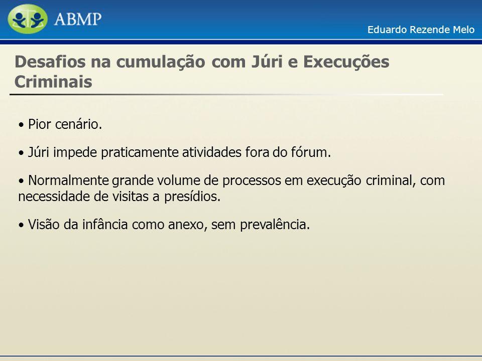 Desafios na cumulação com Júri e Execuções Criminais
