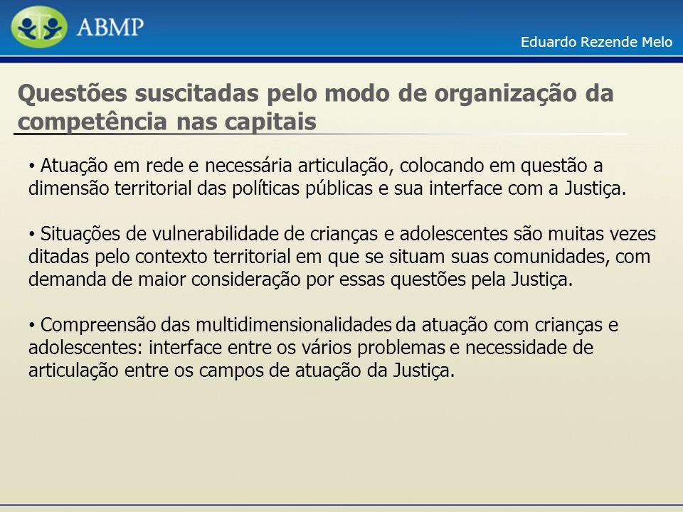 Questões suscitadas pelo modo de organização da competência nas capitais