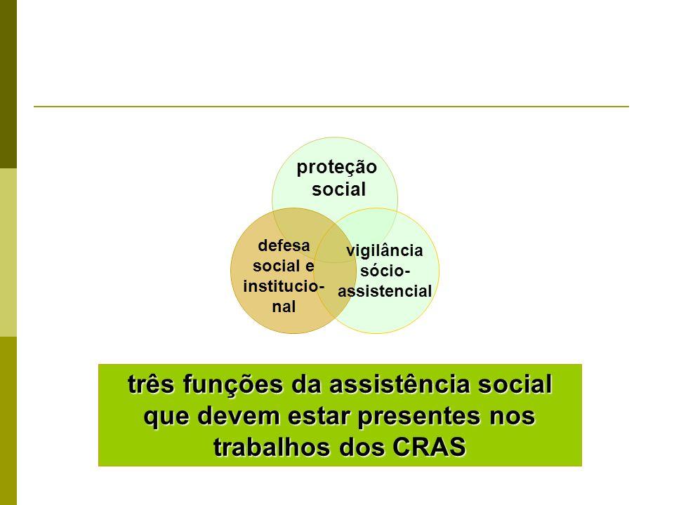 defesa social e institucio-nal vigilância sócio-assistencial