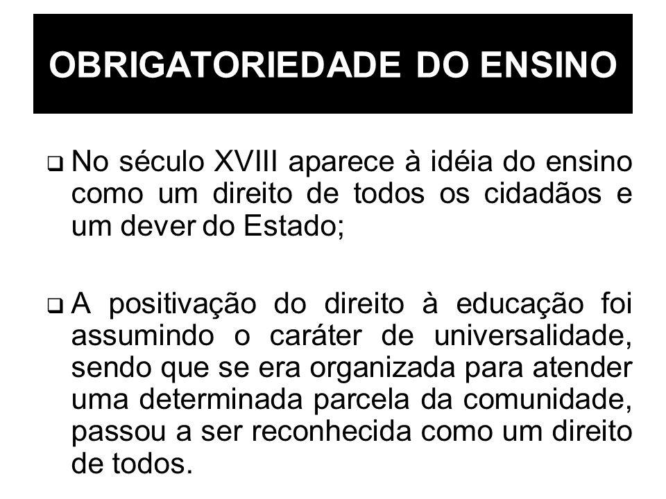 OBRIGATORIEDADE DO ENSINO