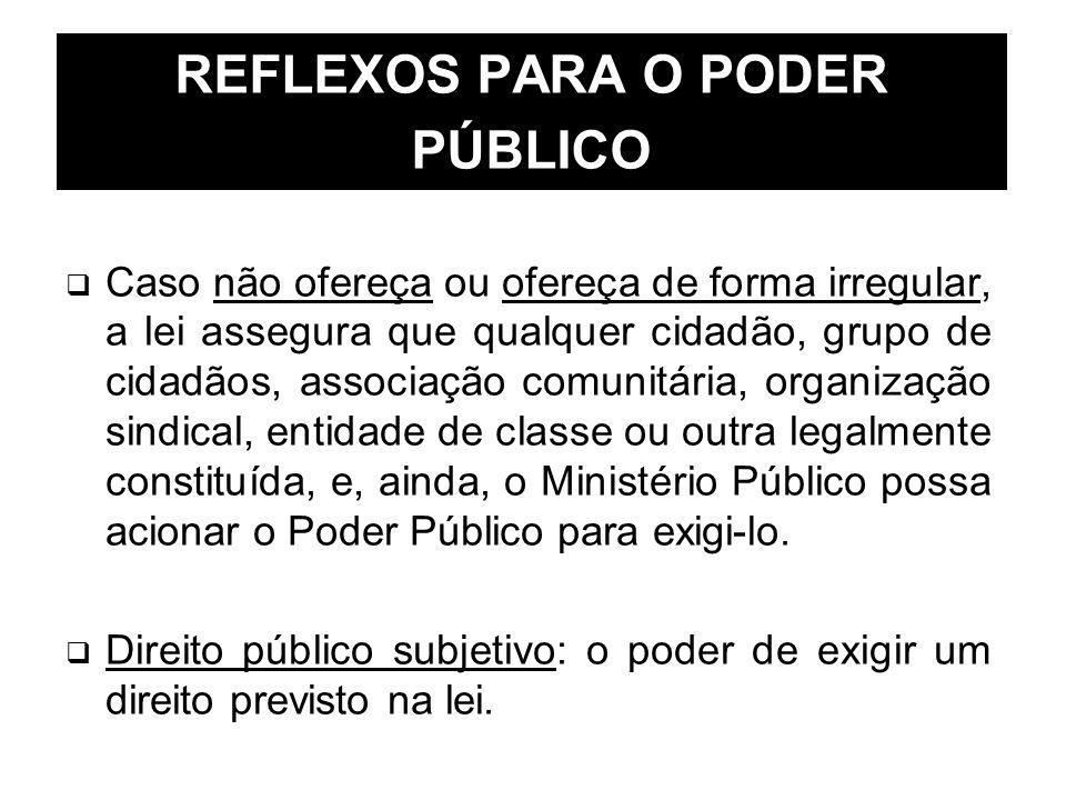 REFLEXOS PARA O PODER PÚBLICO