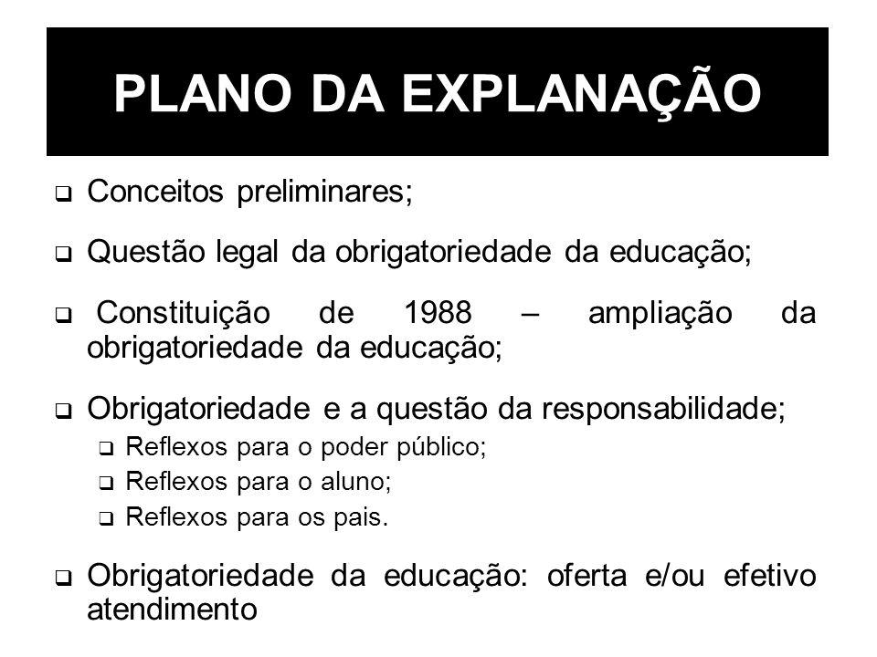 PLANO DA EXPLANAÇÃO Conceitos preliminares;