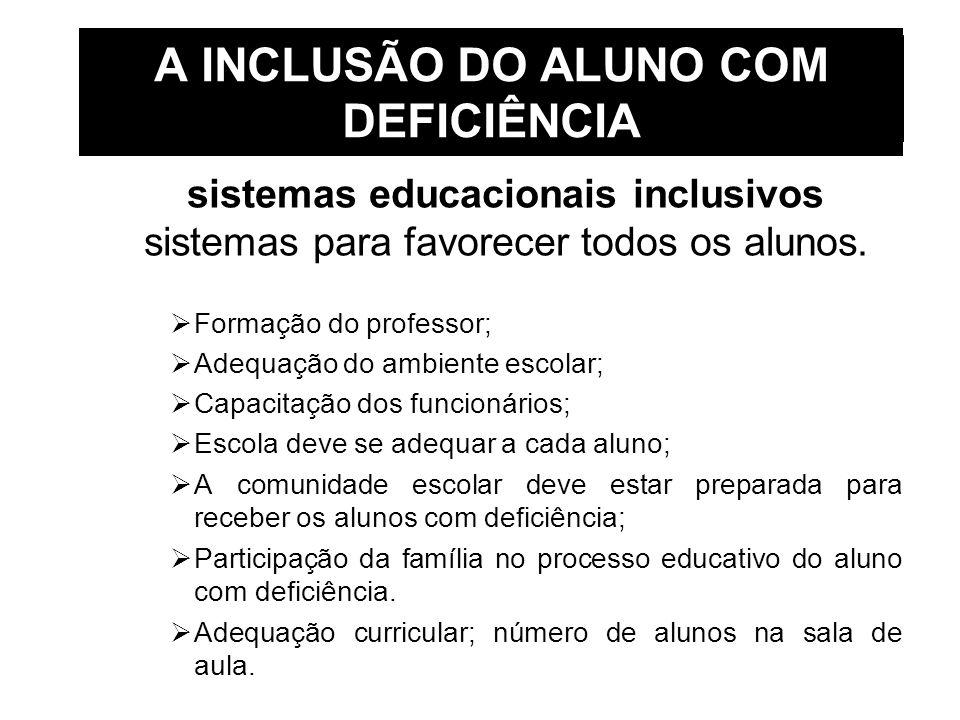 A INCLUSÃO DO ALUNO COM DEFICIÊNCIA