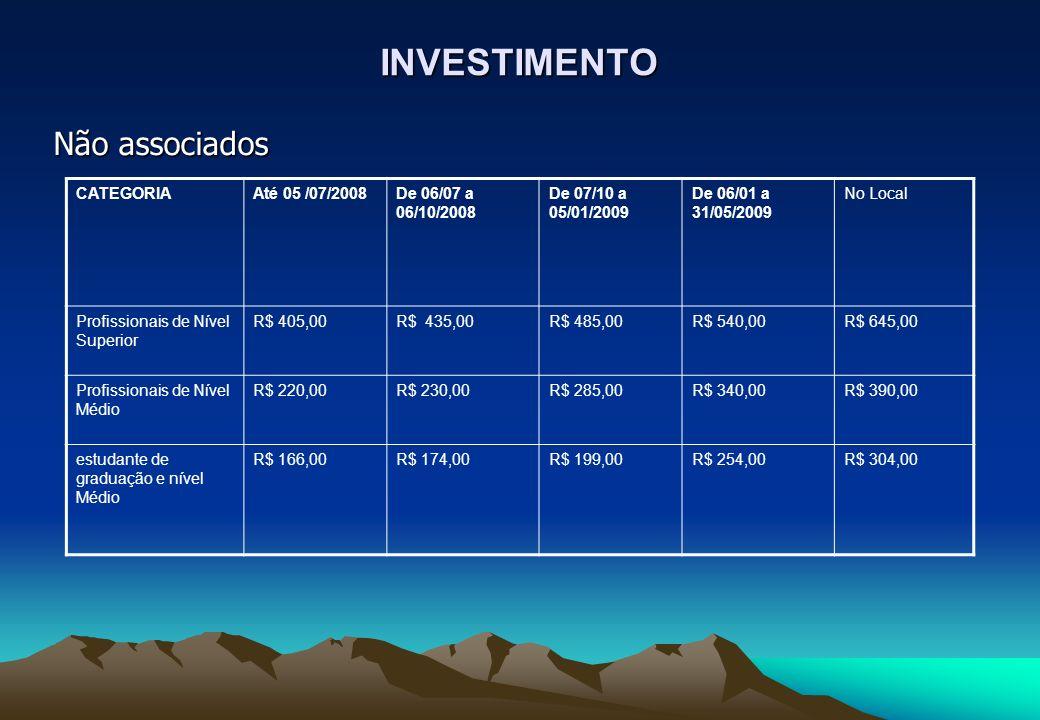 INVESTIMENTO Não associados CATEGORIA Até 05 /07/2008
