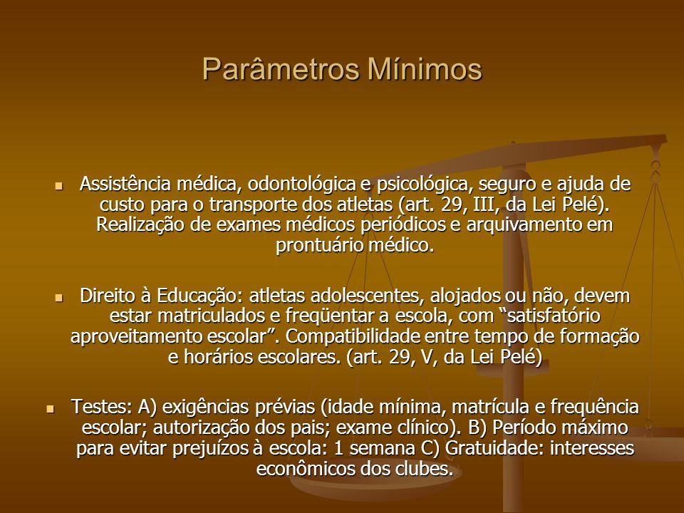 Parâmetros Mínimos