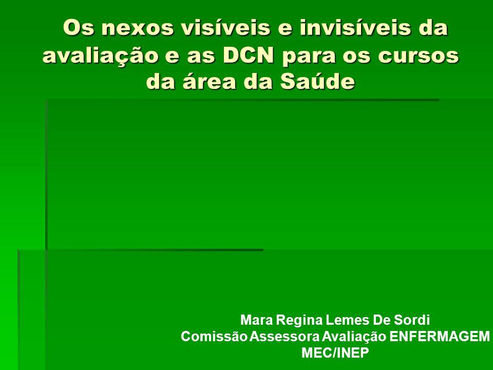 Mara Regina Lemes De Sordi Comissão Assessora Avaliação ENFERMAGEM