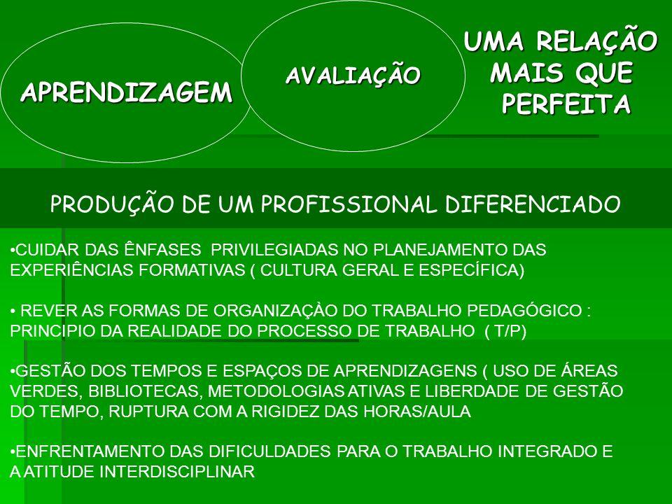PRODUÇÃO DE UM PROFISSIONAL DIFERENCIADO