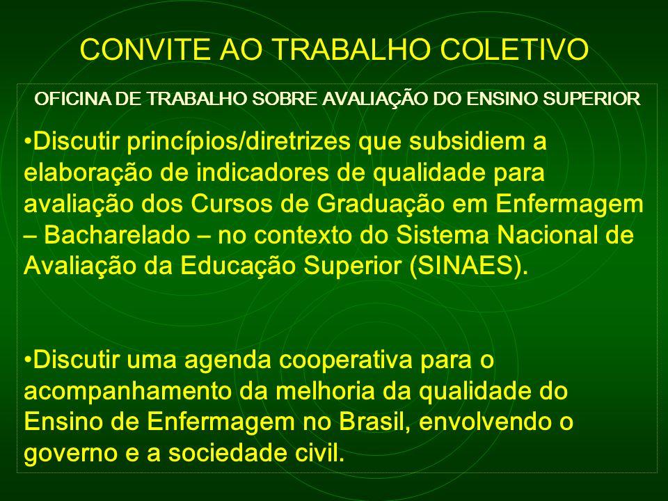 OFICINA DE TRABALHO SOBRE AVALIAÇÃO DO ENSINO SUPERIOR