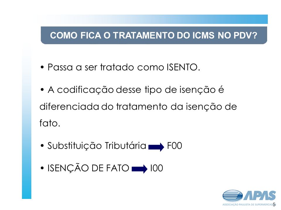 COMO FICA O TRATAMENTO DO ICMS NO PDV