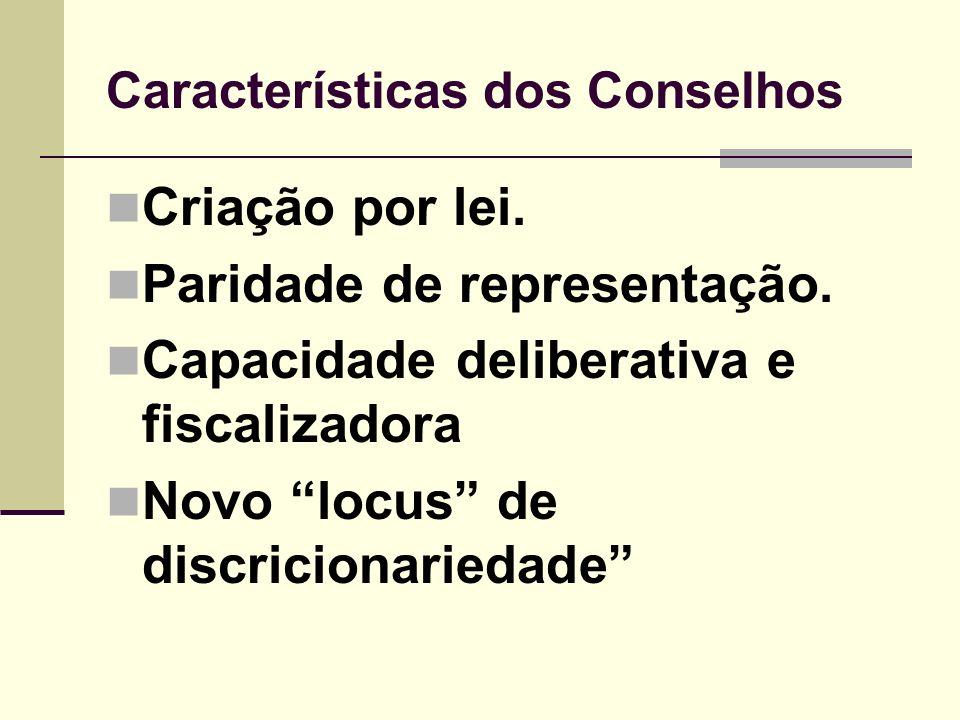 Características dos Conselhos
