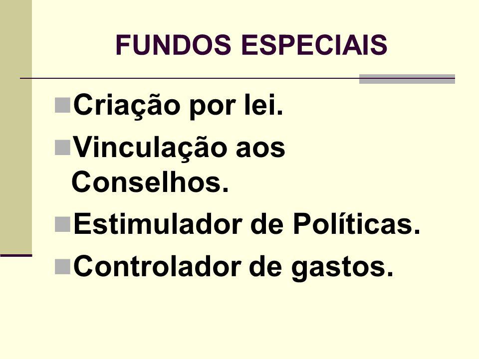 Vinculação aos Conselhos. Estimulador de Políticas.