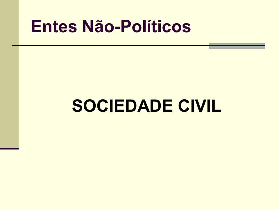 Entes Não-Políticos SOCIEDADE CIVIL