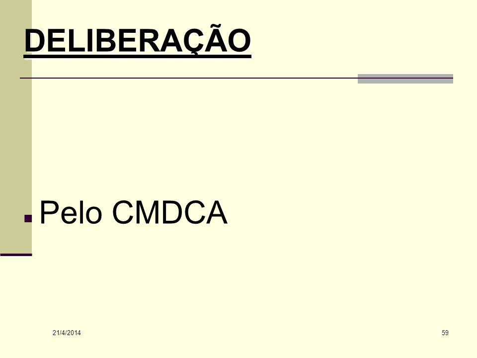 DELIBERAÇÃO Pelo CMDCA 26/03/2017