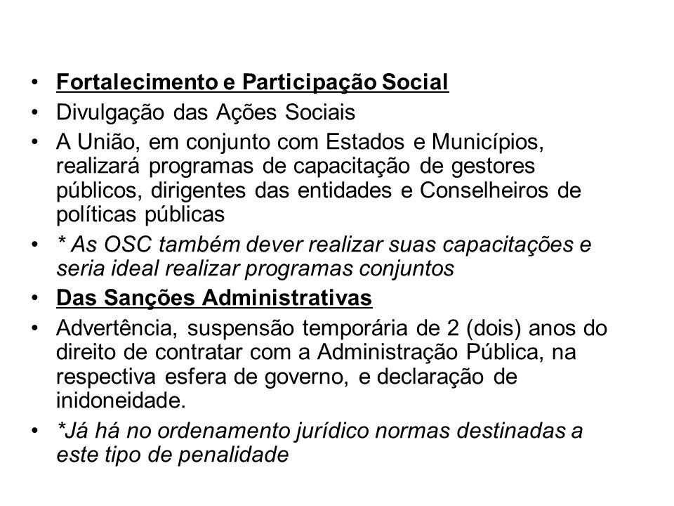 Fortalecimento e Participação Social