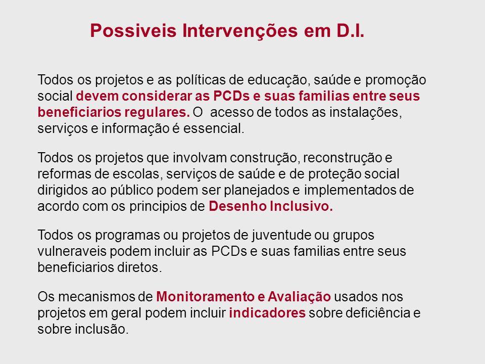 Possiveis Intervenções em D.I.