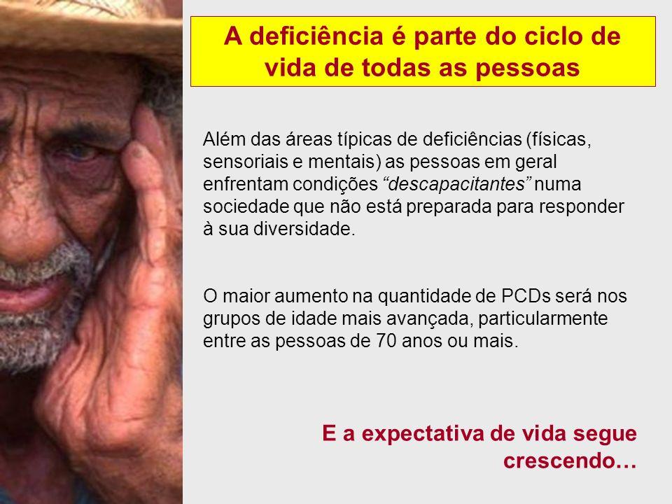 A deficiência é parte do ciclo de vida de todas as pessoas