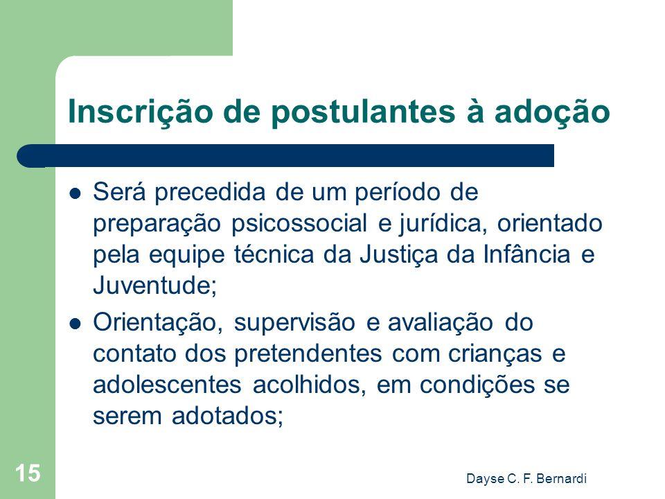 Inscrição de postulantes à adoção