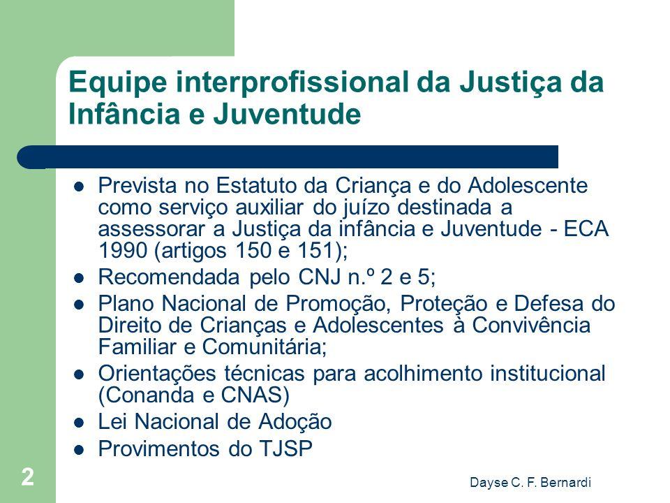 Equipe interprofissional da Justiça da Infância e Juventude