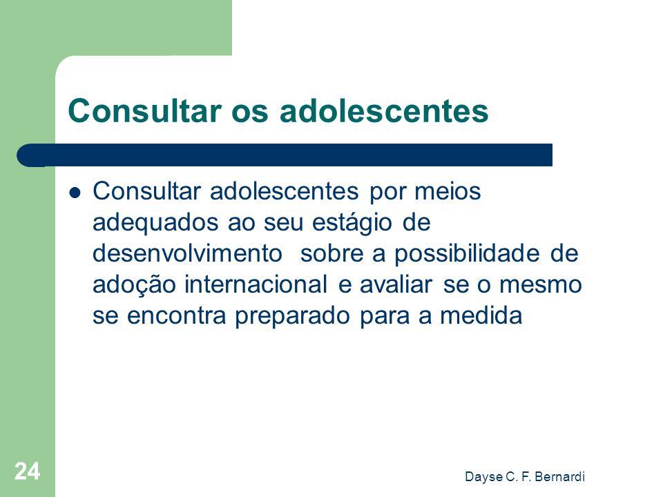 Consultar os adolescentes