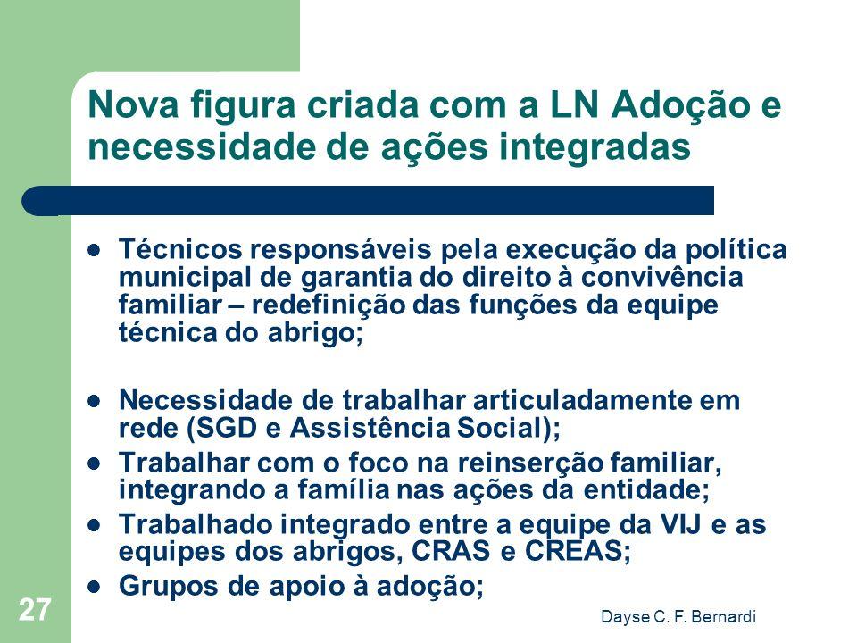 Nova figura criada com a LN Adoção e necessidade de ações integradas