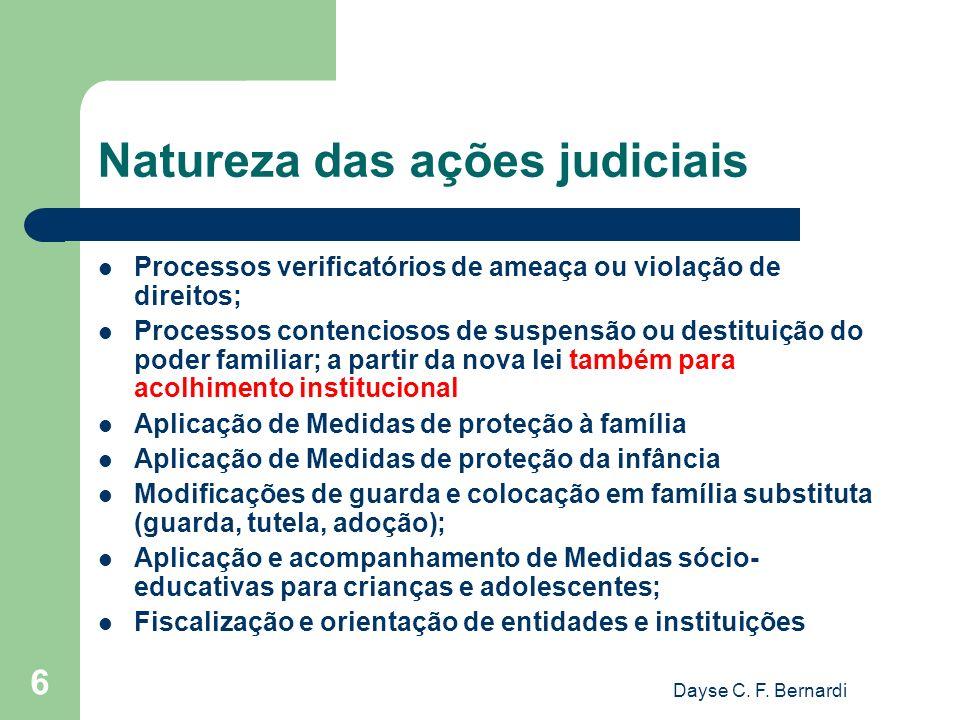 Natureza das ações judiciais