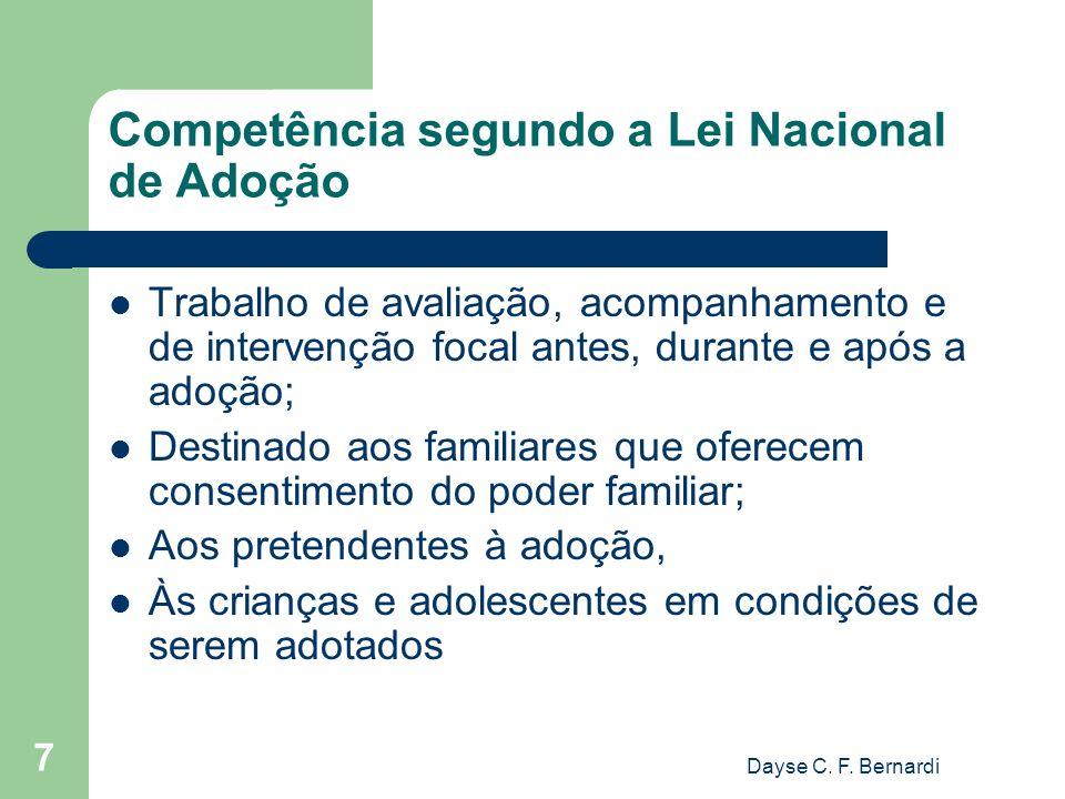 Competência segundo a Lei Nacional de Adoção