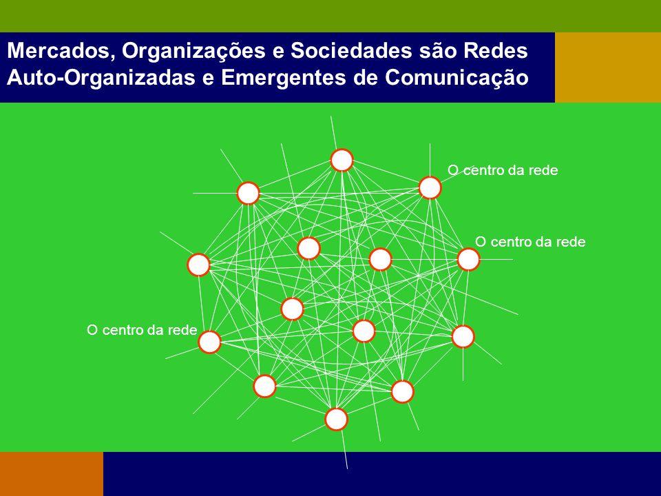 Mercados, Organizações e Sociedades são Redes Auto-Organizadas e Emergentes de Comunicação