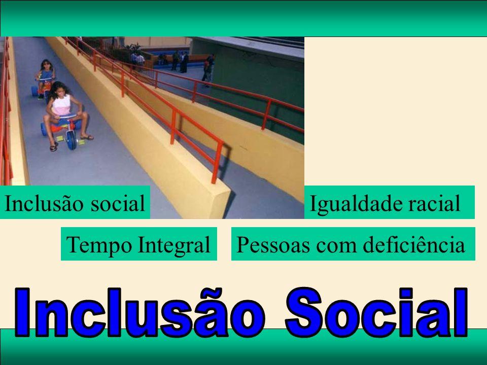 Inclusão Social Inclusão social Igualdade racial Tempo Integral