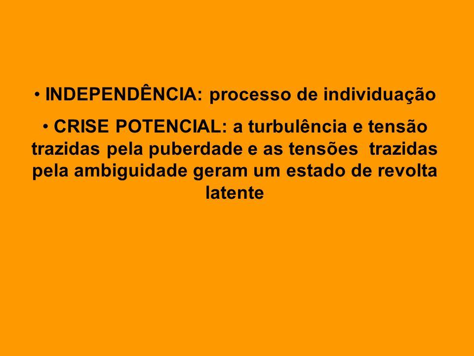 INDEPENDÊNCIA: processo de individuação