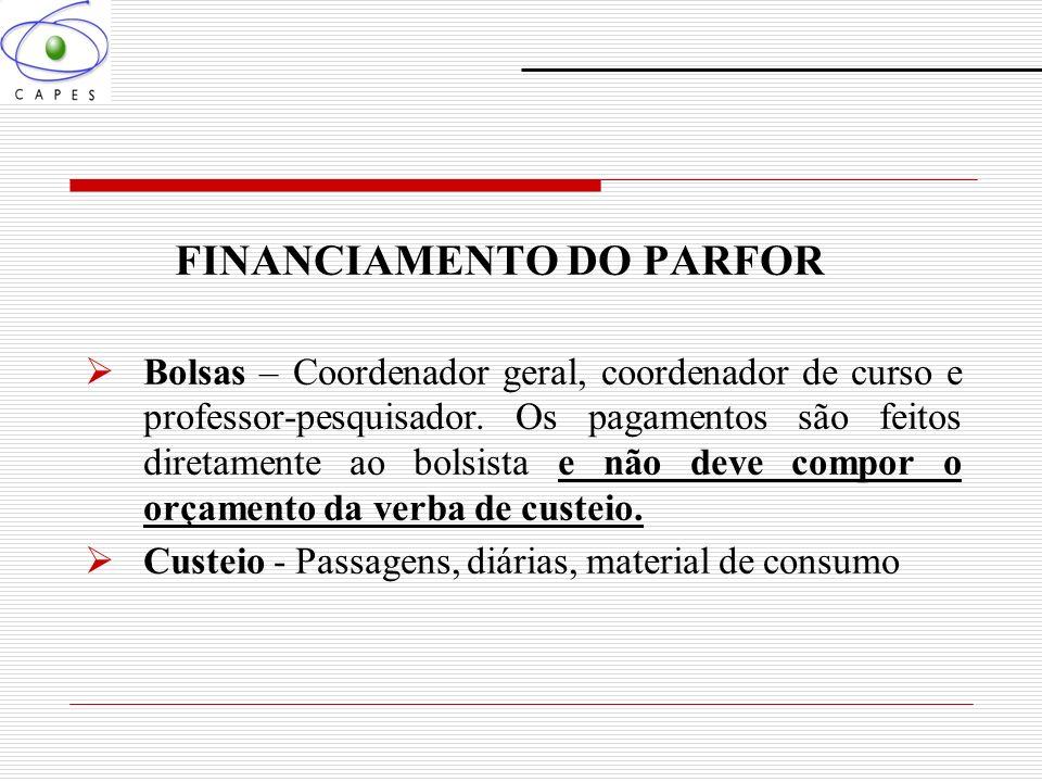 FINANCIAMENTO DO PARFOR