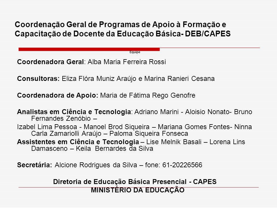 Diretoria de Educação Básica Presencial - CAPES