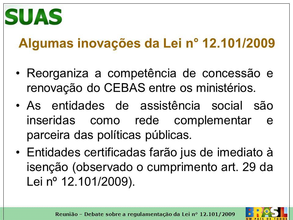 Algumas inovações da Lei n° 12.101/2009