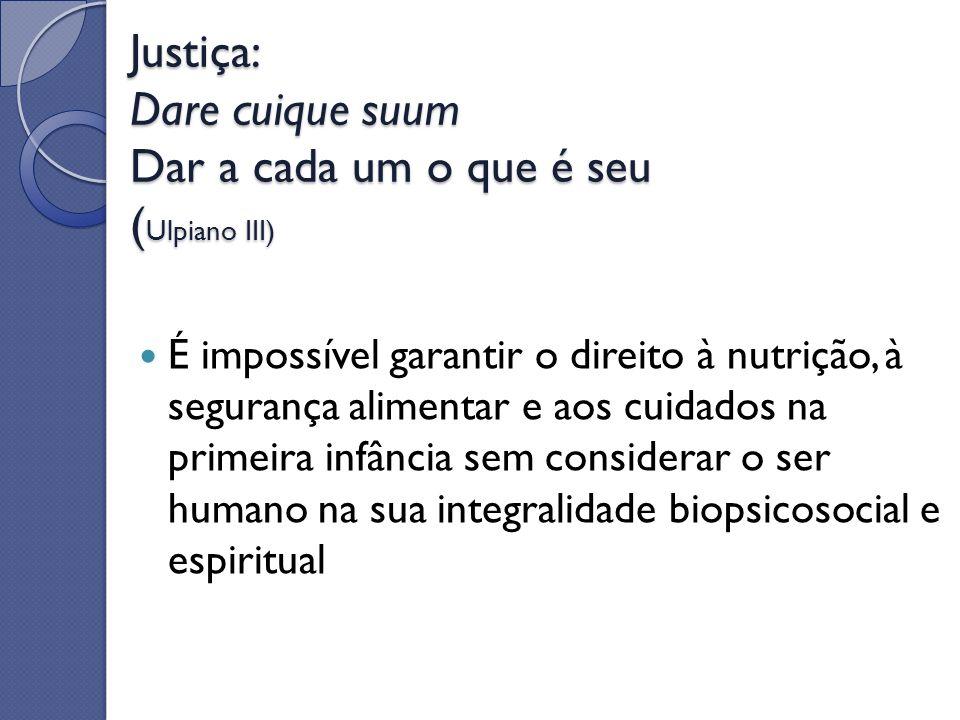 Justiça: Dare cuique suum Dar a cada um o que é seu (Ulpiano III)
