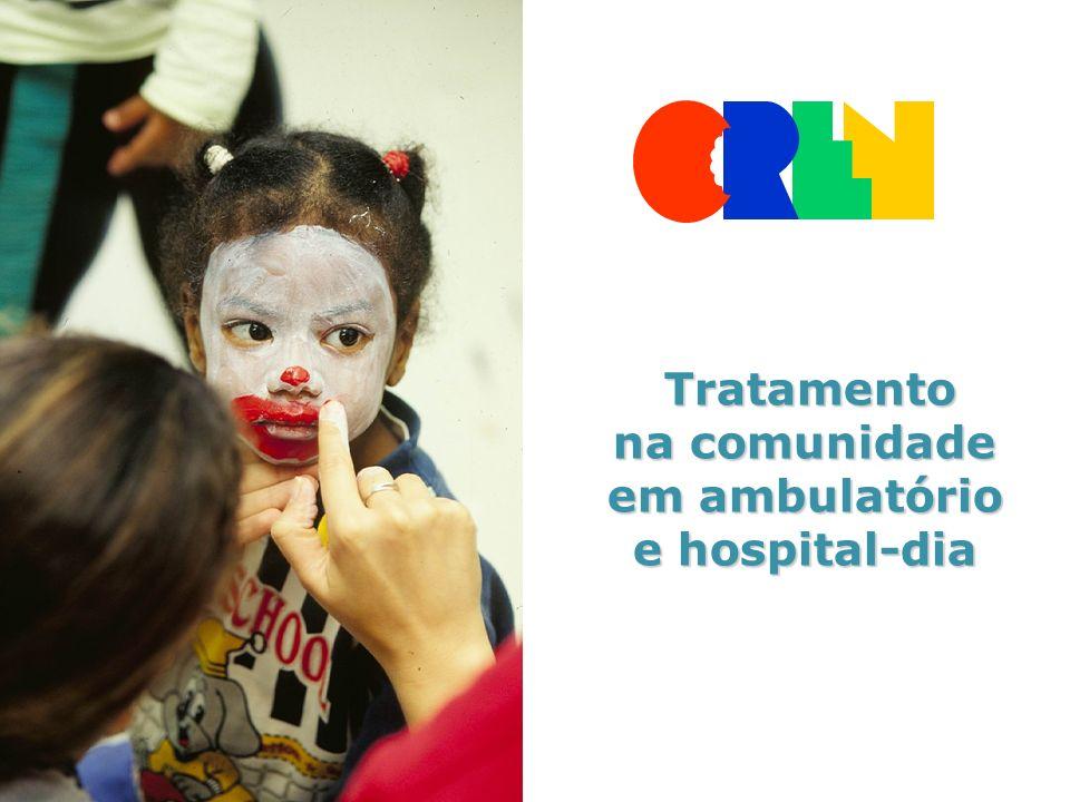 na comunidade em ambulatório e hospital-dia